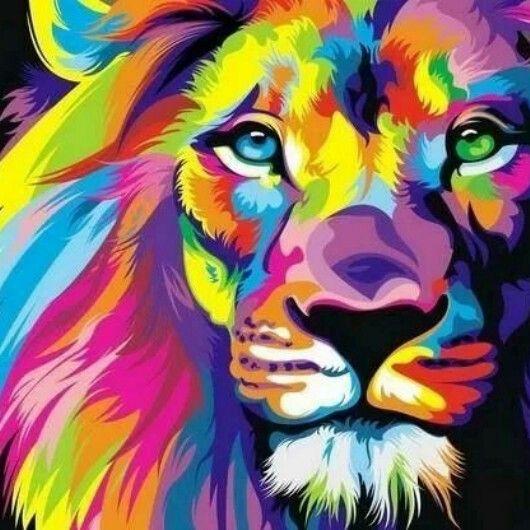 e003041391d655871dca9cd7db85b134--lion-painting-neon-art-painting